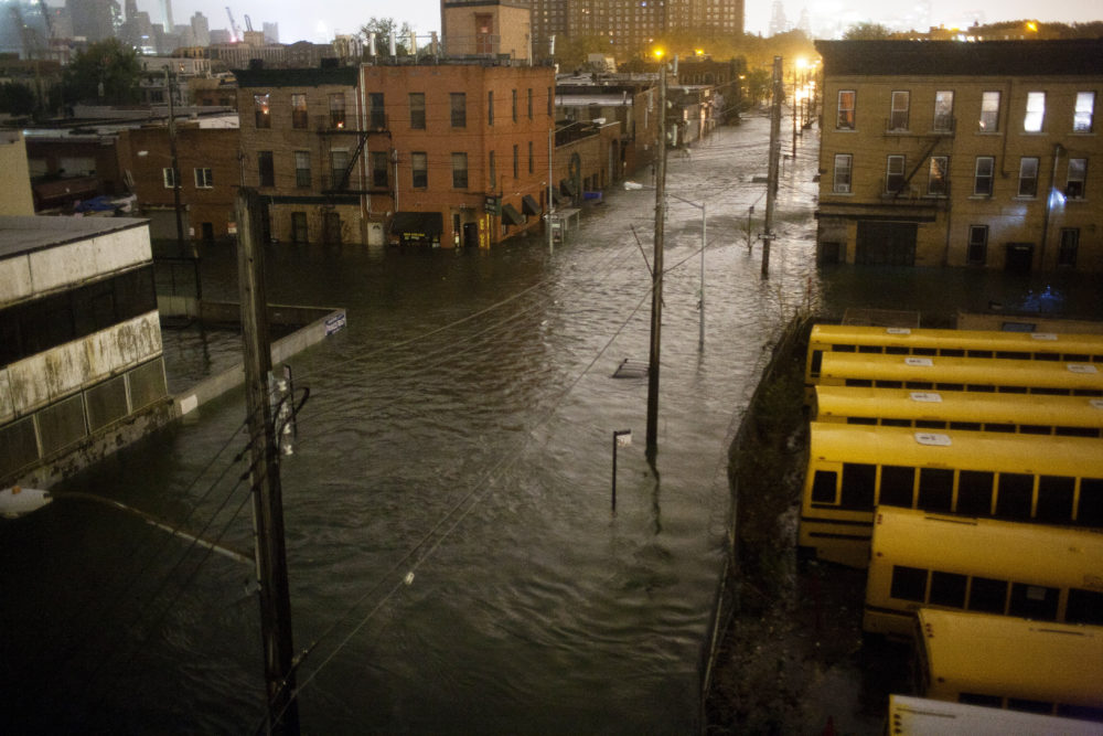 Flooding in Red Hook after Superstorm Sandy. Credit: Alan Chin via The Bridge