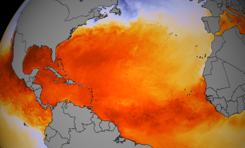 Sea Surface Temperatures. Credit: NOAA