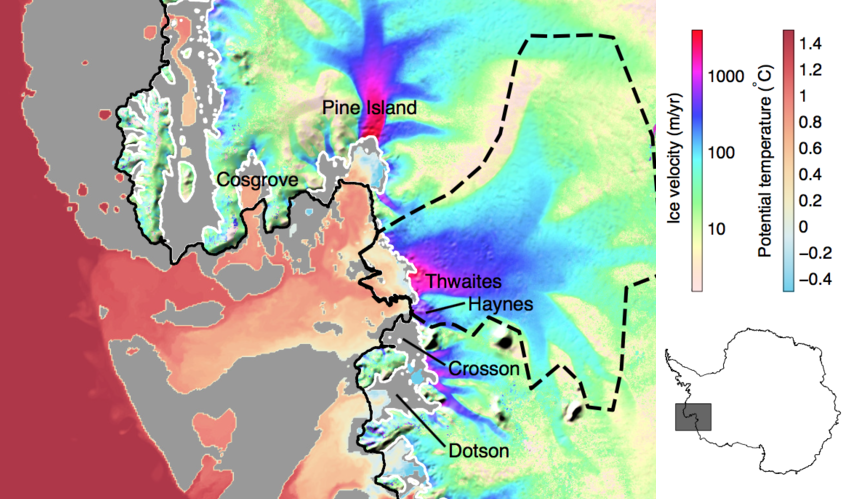 Thwaites Glacier. Credit: NASA/JPL-Caltech