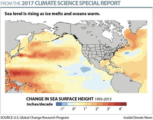 Sea Level Rises as Oceans Warm