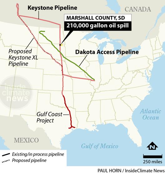 Keystone Pipeline Spills 210,000 Gallons of Oil