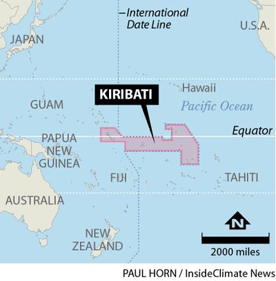 Locator for Kiribati