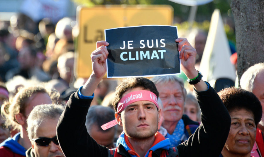 While protesters outside the UN climate talks urged an end to coal, a broad range of climate supporters spoke up inside, including U.S. states, cities and businesses. Credit: Sascha Schuermann/AFP/Getty Images