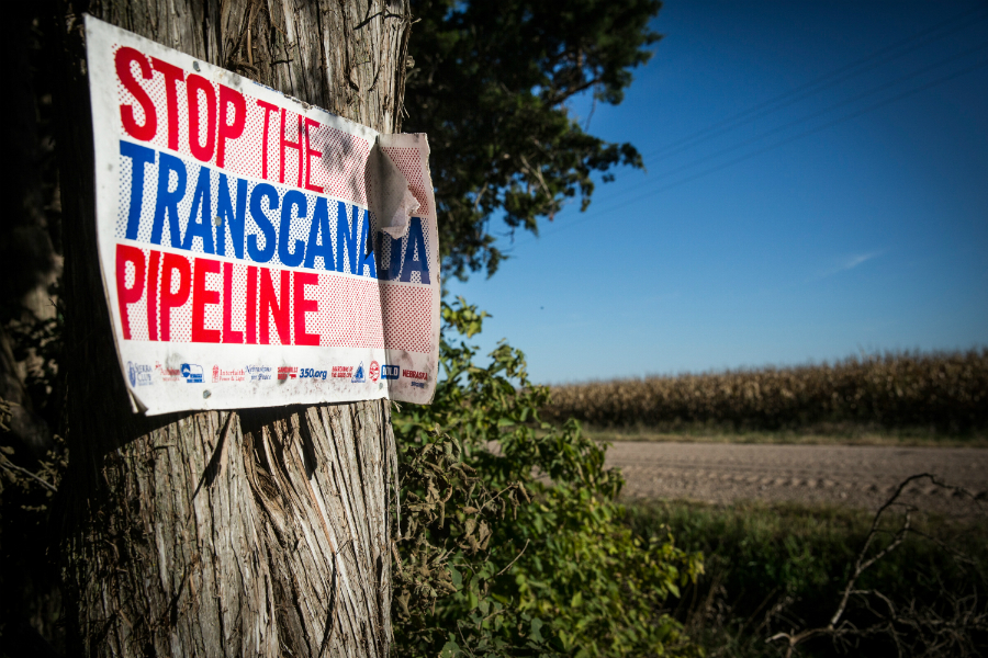 Farmers in Nebraska have protested the Keystone XL pipeline plan. Credit: Andrew Burton/Getty Images