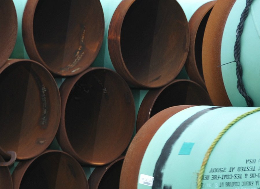 Pipes for the Keystone XL Pipeline. Credit: Mandel Ngan/AFP/Getty Images