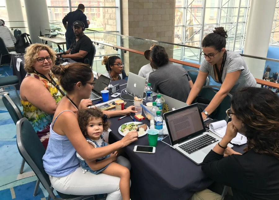 Reporting team in Puerto Rico. Credit: Omaya Sosa