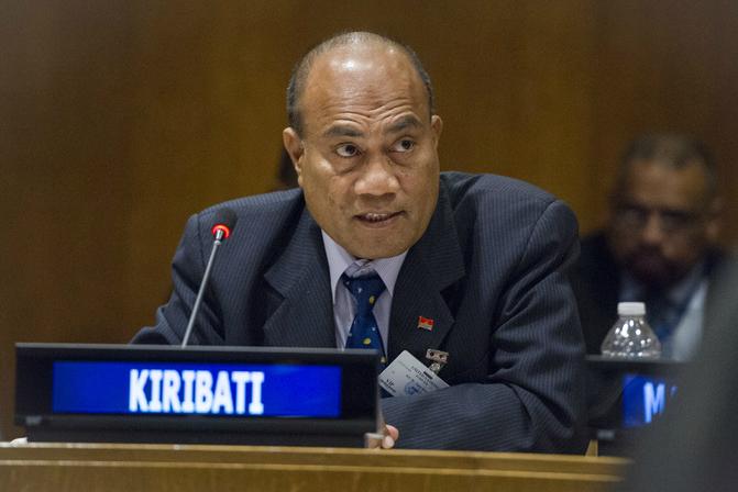Kiribati President Taneti Maamau. Credit: Rick Bajornas/UN