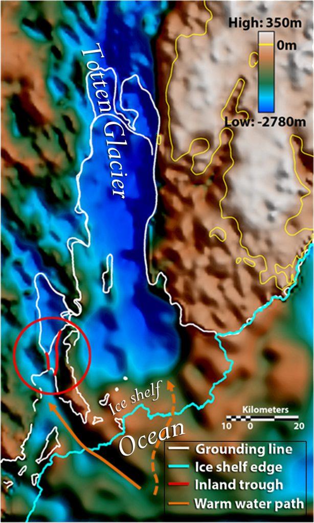 Totten Glacier. Credit: Jamin Greenbaum/University of Texas-Austin