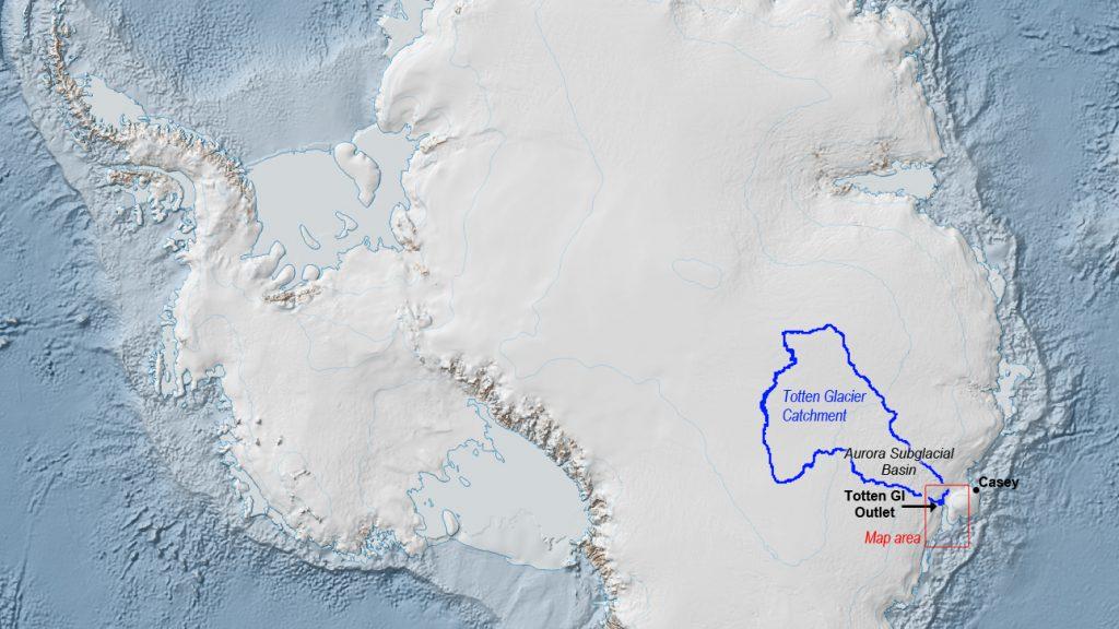 Totten Glacier in East Antarctica. Credit: Australian Antarctic Division