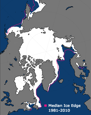 When the Arctic sea ice hit its maximum extent for the winter on March 7, 2017, it was the lowest in the satellite record. Credit: Arctic Report Card