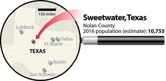 Sweetwater, Texas, locator map