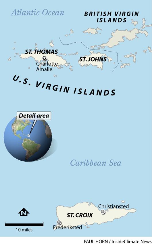 U.S. Virgin Islands map