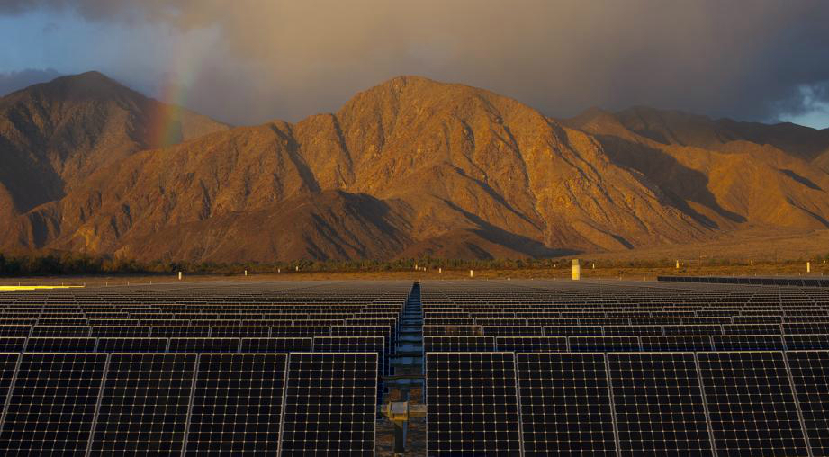Borrego Springs, California's microgrid is connected to solar power. Credit: San Diego Gas & Electric