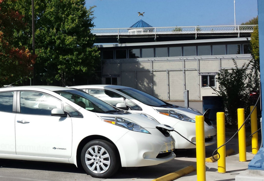 Chattanooga's car-sharing electric vehicles can be found with charging stations around the city. Credit: Tennessee Valley Authority