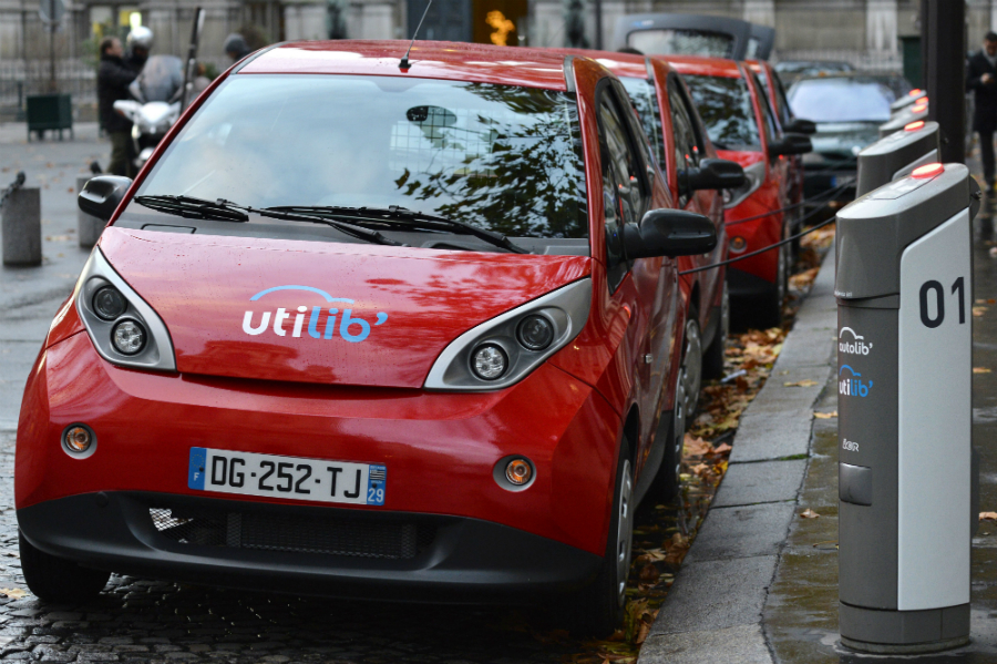 Europe's car-sharing programs have been shifting to electric. Paris has over 1,100 stations and 4,000 self-service electric cars available. Copenhagen has 400 BMW electric vehicles in its DriveNow program. Credit: Miguel Medina/AFP/Getty Images