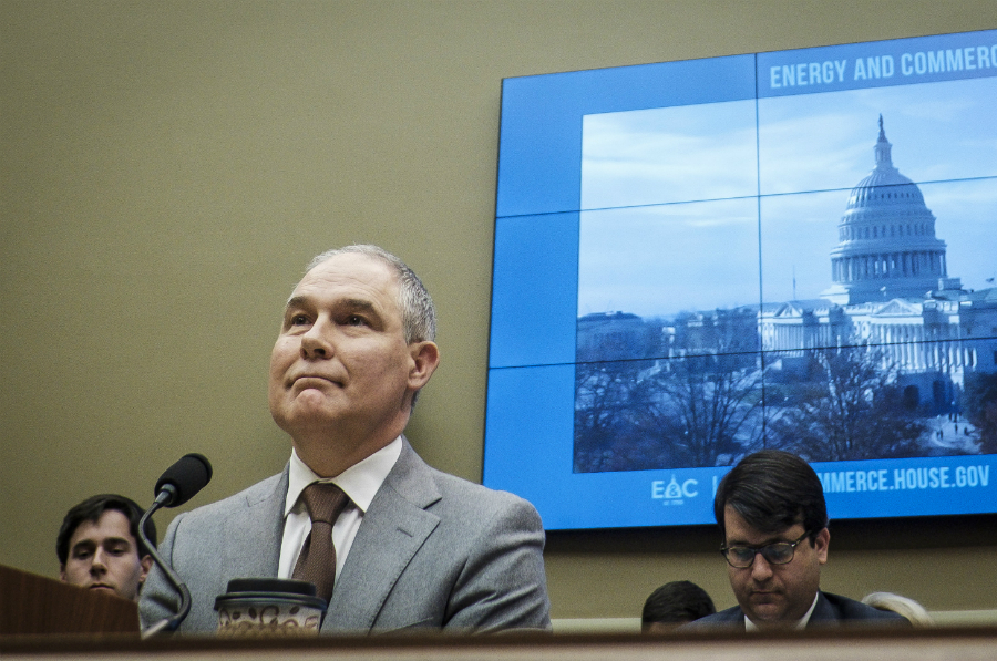 EPA Administrator Scott Pruitt testified before the U.S. House Energy and Commerce Committee on Dec. 7, 2017. Credit: Pete Marovich/Getty Images