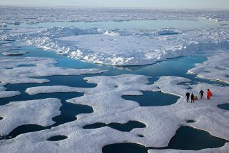 Scientists in the Canadian Arctic. Credit: Jeremy Potter/NOAA
