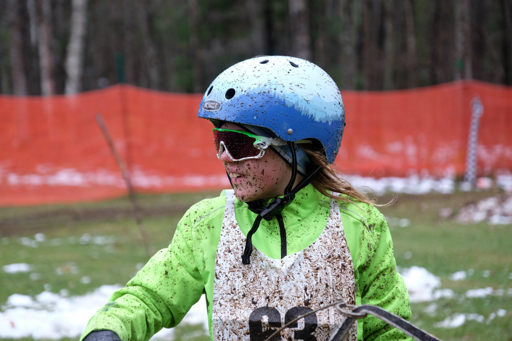 Even snowless races still draw young dog sled racers excited for the thrill of the sport. Credit: Meera Subramanian/InsideClimate News