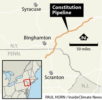Constitution pipeline proposed route map