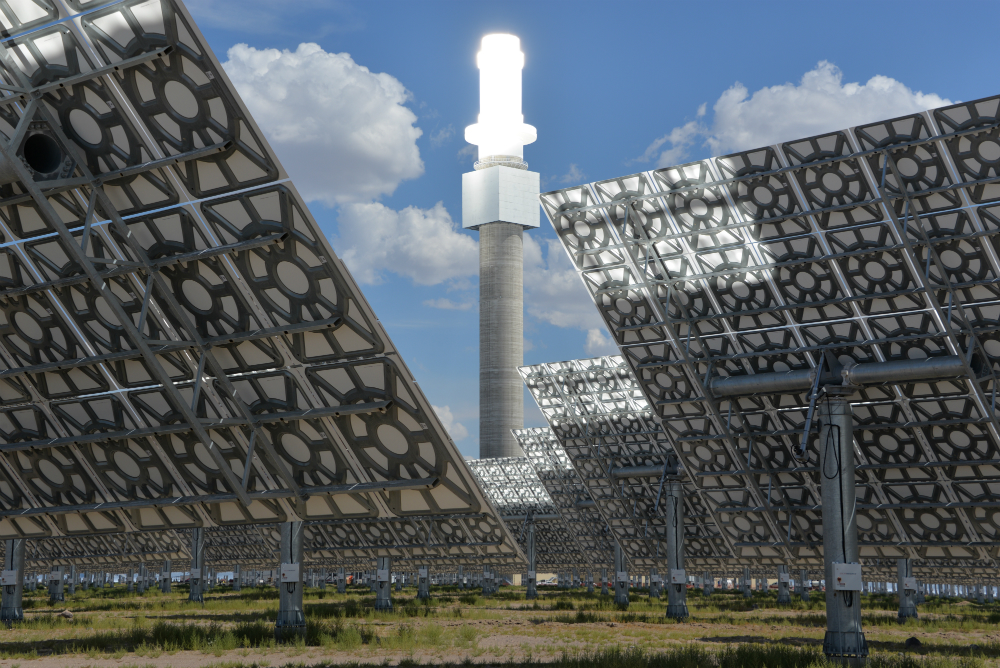 Concentrated solar power plants that use molten salt storage are drawing interest, with several plants planned in China. Credit: SolarReserve
