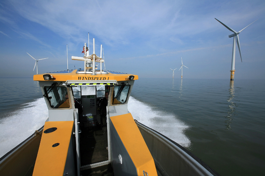 Orsted's Burbo Bank Wind Farm, off the UK, is one of several offshore wind farms developed and operated by fossil fuel companies. Credit: Christopher Furlong/Getty Images