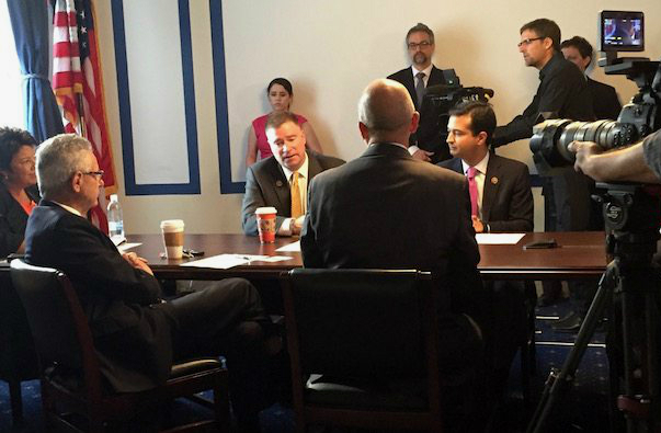 Members of the Climate Solutions Caucus are interviewed for Years of Living Dangerously. Credit: Citizens' Climate Lobby