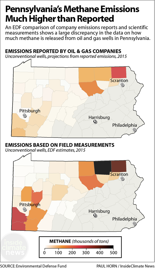 Maps: Pennsylvania Methane Emissions Are Higher Than Reported
