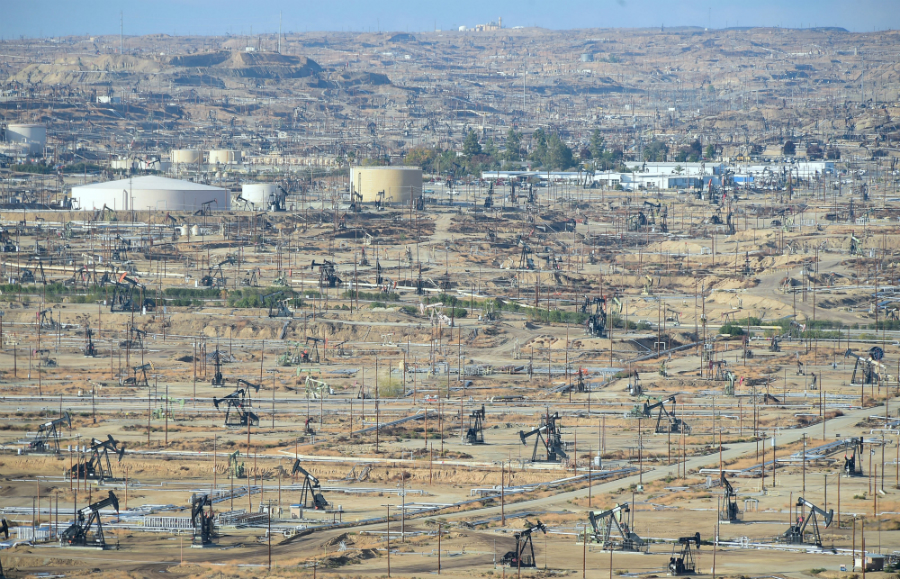 The Chevron oil field near Bakersfield, California. Credit: Frederic J. Brown/AFP/Getty Images