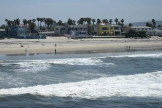 Imperial Beach sits at the water's edge and is known for its beaches. Its suing fossil fuel companies over climate change. Credit: Kotoviski/CC-BY-SA-3.0