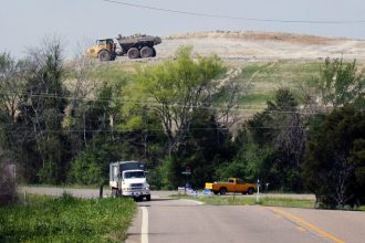 The Arrowhead landfill near Uniontown, a predominantly black community in Alabama, became a dump for coal ash waste about 10 years ago. Credit: Chris Jordan Bloch/Earthjustice