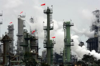A Chevron refinery. Credit: David McNew/Getty Images
