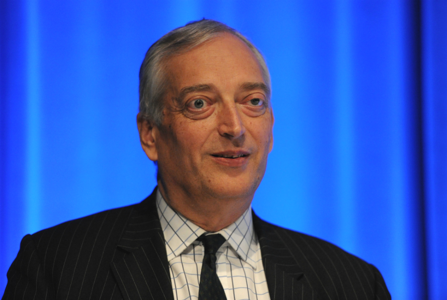"""Christopher Monckton, one of the contrarian commentators who filed a """"friend of the court"""" brief in the cities case, has been a speaker at Heartland Institute conferences and a guest of climate policy opponents in Congress. Credit: Torsten Blackwell/AFP/G"""