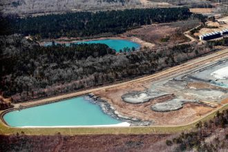 Coal ash ponds in North Carolina. Credit: Waterkeeper Alliance