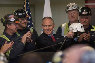 EPA Administrator Scott Pruitt meets with coal miners in Pennsylvania. Credit: Justin Merriman/Getty Images
