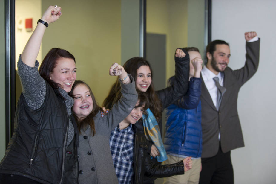 Young plaintiffs are suing the U.S. over its responsibility to address climate change. Photo courtesy of Robin Loznak/ZUMAPRESS.com
