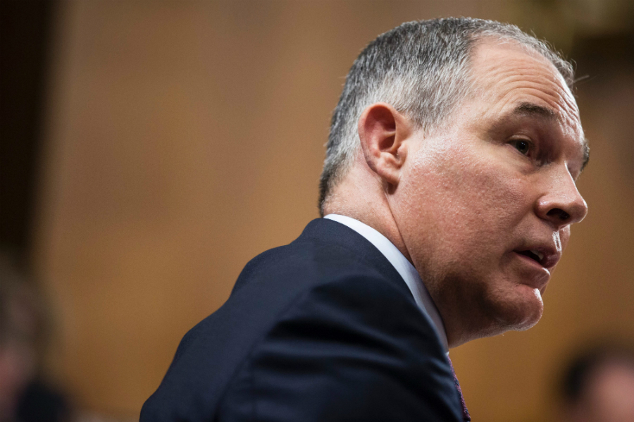 Scott Pruitt, EPA administrator under President Trump. Credit: Zach Gibson/AFP/Getty Images