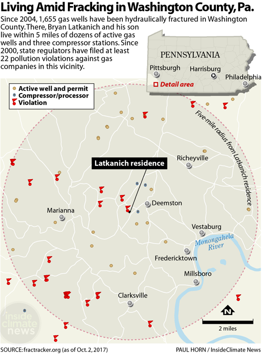 Living Amid Fracking in Washington County, Pennsylvania