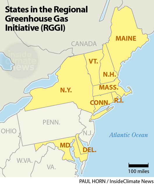 States in RGGI, the Northeast's Regional Greenhouse Gas Initiative
