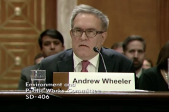 Andrew Wheeler, testifying before the Senate Environment and Public Works Committee.