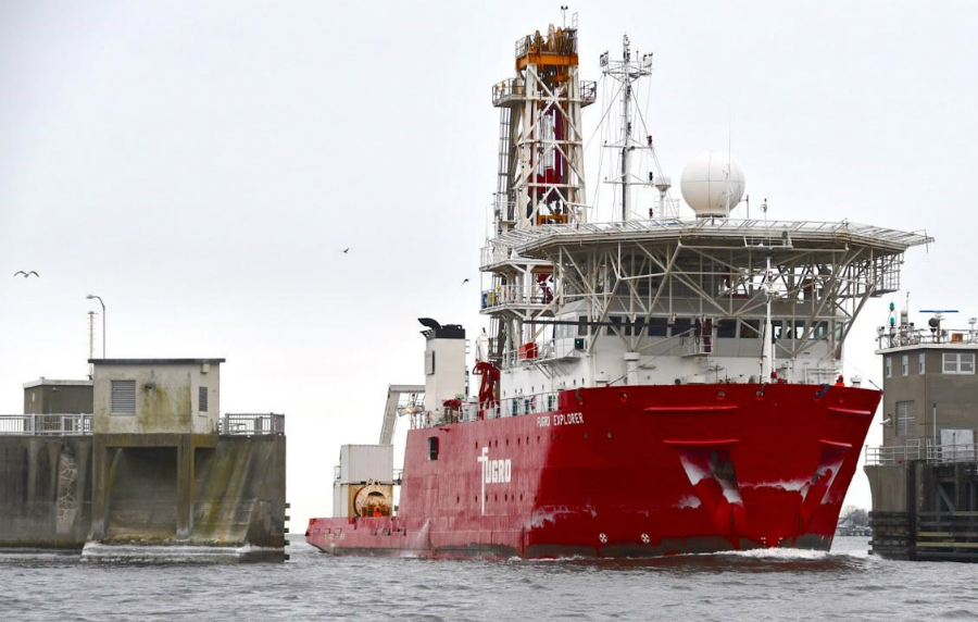 The Fugro Explorer has been used by all three companies for offshore surveys and underwater testing. Credit: Massachusetts Clean Energy Center