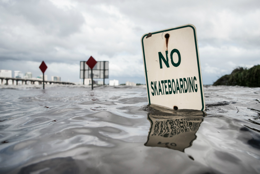 Hurricane Irma flooded parts of Jacksonville, Florida. Credit: Sean Rayford/Getty Images