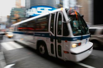 New York City plans to take its buses electric. Credit: Chris Hondros/Getty Images