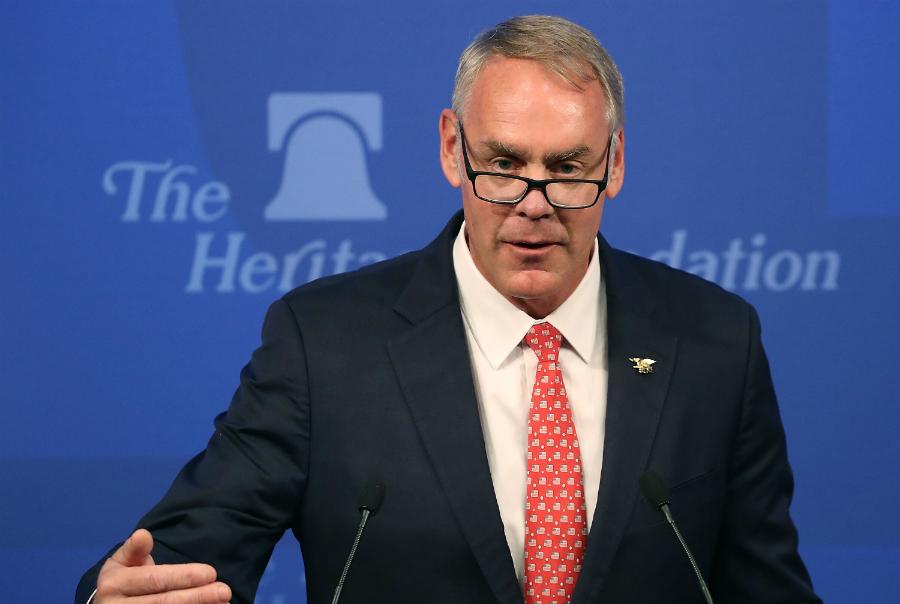 Interior Secretary Ryan Zinke. Credit: Mark Wilson/Getty Images