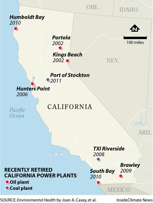 California Power Plant Closures Coal Oil Preterm Births