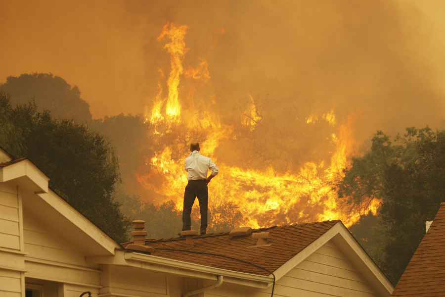 Five of California's largest fire years have been since 2006. Credit: David McNew/Getty Images