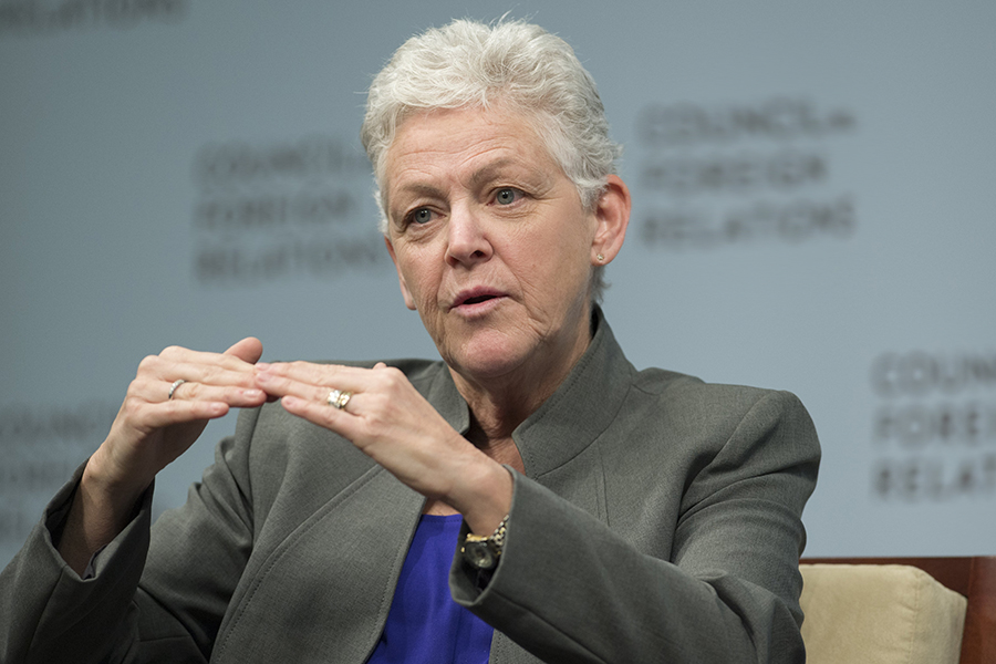 Former EPA Administrator Gina McCarthy, shown here in an earlier photo, will head Harvard's new Center for Climate, Health and the Global Environment. Credit: Saul Loeb/Getty Images