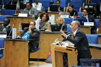 UN climate negotiations in Bonn, May 2018. Credit: UN Climate Change