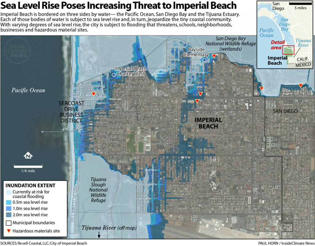Map: Sea Level Rise Poses Increasing Threat to Imperial Beach, California
