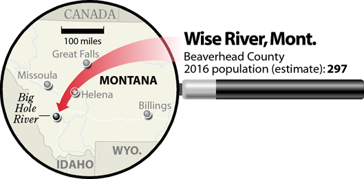Wise River, Montana, locator map