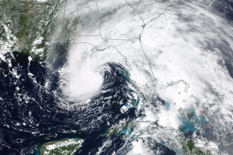 Subtropical Storm Alberto kicked off the 2018 Atlantic hurricane season a few days early, on May 28. It was the first named storm of what is currently forecast to be a less extreme season than 2017. Credit: NASA/NOAA